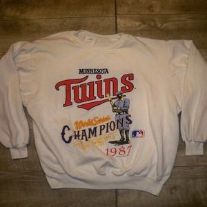 Vtg 1987 MINNESOTA TWINS World Series Sweatshirt L
